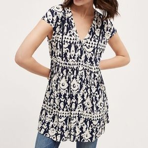 ANTHROPOLOGIE | ikat ladder lace tunic 0210